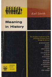 Meaning in History - Karl Löwith - Régikönyvek