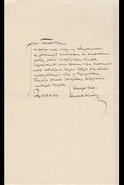 Kárpáti Aurél (1884–1963) író, szerkesztő saját kézzel írt kísérőlevele Babits Mihálynak (1883–1941) költőnek, a Nyugat szerkesztőjének - Kárpáti Aurél - Régikönyvek