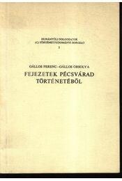 Fejezetek Pécsvárad történetéből - Gállos Ferenc, Gállos Orsolya - Régikönyvek