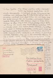 Keresztury Dezső (1904–1996) író Babits Mihály személyes ismerősének saját kézzel írt, két oldal terjedelmű visszaemlékezése a Babits-házaspár vitáinak és a korabeli irodalmi életnek számos részletével – Belia György (1923–1982) szerkesztőnek. - Keresztury Dezső - Régikönyvek
