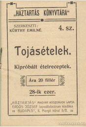 Tojásételek (mini) - Kürthy Emilné (szerk.) - Régikönyvek