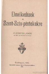 Elmélkedések a Szent-Szív-péntekre - P. Scháfer János: - Régikönyvek