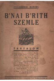 B'nai B'rith szemle 1934 február-március - Régikönyvek
