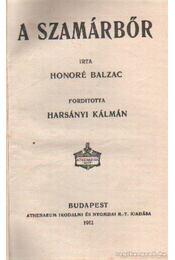 A szamárbőr - Honoré de Balzac - Régikönyvek