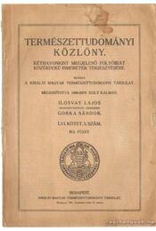 Természettudományi Közlöny 1924. szeptember-október - Gorka Sándor, Ilosvay Lajos - Régikönyvek