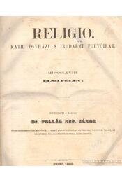 Religio - Kath. egyházi, s irodalmi folyóirat - 1868, Első félév - Dr. Pollák Nep. János (szerk.) - Régikönyvek