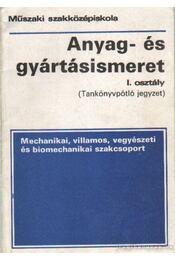 Anyag- és gyártásismeret I. oszály (Tankönyvpótló jegyzet) - Nagy Sándor László - Régikönyvek