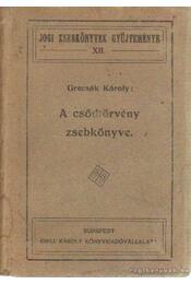 A csődtörvény zsebkönyve - Grecsák Károly - Régikönyvek