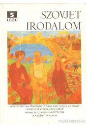 Szovjet Irodalom 1981/5 - Régikönyvek