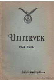 Útitervek 1933-1934 - Régikönyvek