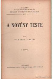 A növény teste - Moesz Gusztáv - Régikönyvek