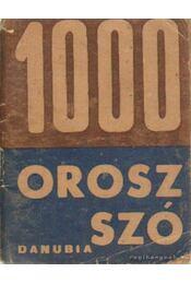1000 orosz szó - Chanáth Sándor - Régikönyvek