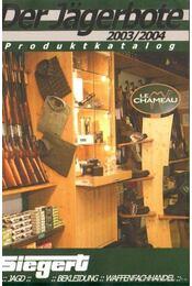 Der Jagerbote Produktkatalog 2003/2004 - Régikönyvek