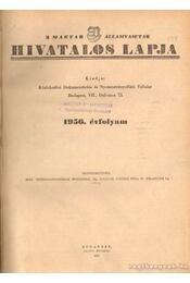 A magyar Államvasutak hivatalos lapja 1956. évfolyam - Régikönyvek