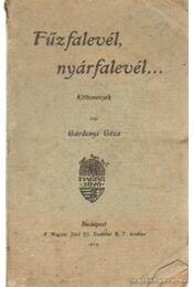 Fűzfalevél nyárfalevél - Gárdonyi Géza - Régikönyvek