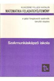 Matematika feladatgyűjtemény a gépi forgácsoló szakmák tanulói részére - Kunczené Fellegi Katalin - Régikönyvek