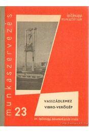 Vaszádlemez - Vibro-verőgép - Szalai György, Kispál Miklós, Bodnár Gusztáv - Régikönyvek