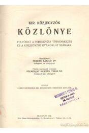 Kir. Közjegyzők Közlönye 1935. - Dr. Fekete László - Régikönyvek