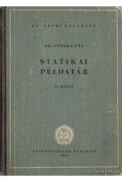 Statikai példatár II. kötet - Csonka Pál - Régikönyvek