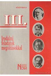 Irodalmi feladatok megoldásokkal III. - Vasy Géza, Vasy Gézáné - Régikönyvek