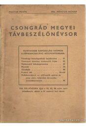 Csongrád megyei távbeszélőnévsor 1956. március - Régikönyvek