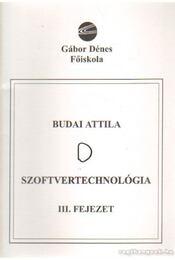 Szoftvertechnológia III. fejezet - Budai Attila - Régikönyvek