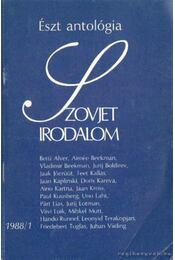 Szovjet irodalom 1988/1 - Király István - Régikönyvek