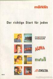 Der richtige Start für jeden - Marklin - Régikönyvek