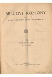 Belügyi közlöny 1938. XLII. évfolyam 1-57. szám - Dr. Szőllőssy Alfréd (szerk.) - Régikönyvek