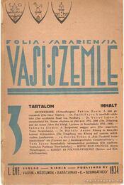Vasi szemle 1934. - Pável Ágoston - Régikönyvek