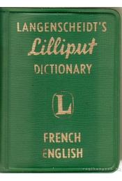 French-English - Langenscheidt's Lilliput Disctionary - Régikönyvek
