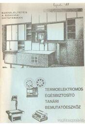 Termoelektromos égésbiztosító tanári bemutatóeszköz - Pálvölgyi Ferenc - Régikönyvek