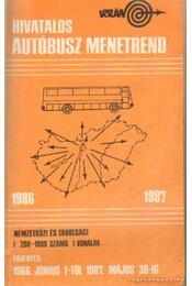 Hivatalos autóbusz menetrend 1986-1987 - Régikönyvek