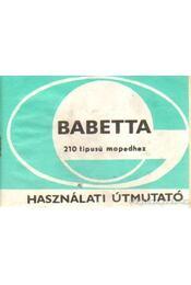Babetta 210 ttipusú mopedhez használati útmutató - Régikönyvek