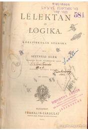 Lélektan és logika - Szitnyai Elek - Régikönyvek