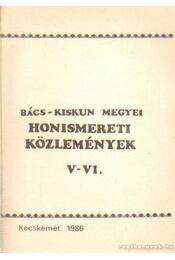 Honismereti közlemények V-VI. - Több szerző - Régikönyvek