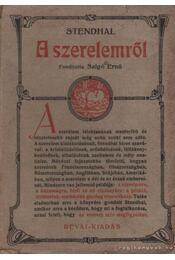 A szerelemről - Stendhal - Régikönyvek