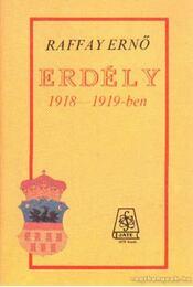 Erdély 1918-1919-ben - Raffay Ernő - Régikönyvek