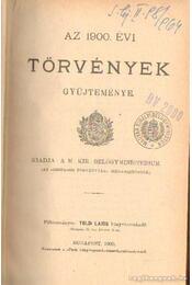 Az 1900. évi törvények gyűjteménye - Régikönyvek