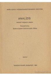 Analízis - Szakolczainé Osztroluczky Klára - Régikönyvek