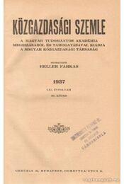 Közgazdasági szemle 1937 LXI. évfolyam 80. kötet - Heller Farkas - Régikönyvek