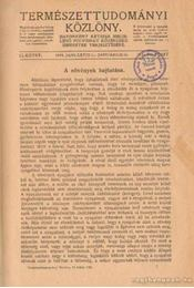 Természettudományi közlöny - Régikönyvek