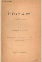 Dráma és színpad- Az ideális szinház - Hevesi Sándor - Régikönyvek