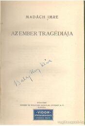 Az ember tragédiája - Madách Imre, Zichy Mihály - Régikönyvek