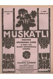 Muskátli 1933. március 6. szám - Zulawsky Elemérné - Régikönyvek