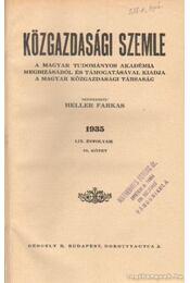 Közgazdasági szemle 1935 LIX. évfolyam, 78. kötet - Heller Farkas - Régikönyvek