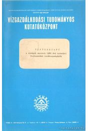 Tájékoztató a vízügyi szervek 1982 évi kutatási fejlesztési tevékenységéről - Régikönyvek