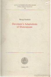 Davenant's Adaptations of Shakespeare - Raddadi, Mongi - Régikönyvek
