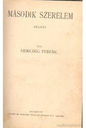 Második szerelem - a bogyó-ház titka - Herczeg Ferenc - Régikönyvek