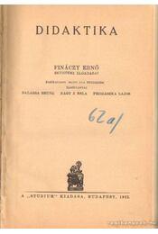 Didaktika - Fináczy Ernő - Régikönyvek